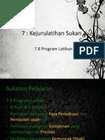 Sains Sukan Program Latihan (Konsep & Definisi)