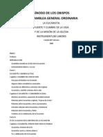 Instrumentum Laboris IX Sinodo - La Eucaristia