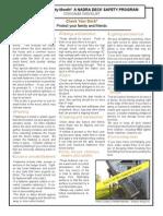 Deck Safety Month Checklist 2008