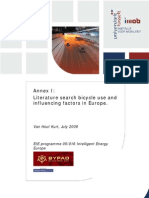 Annex I Literature Search Bicycle Use and Influencing Factors