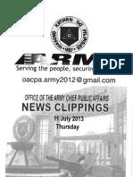 11 Jul 13 Newsclippings