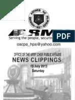 13 Jul 13 Newsclippings