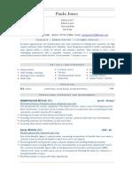 Admin Officer (AO) - CIVIL SERVICE CV Resume Sample
