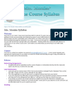 morales online syllabus with shell