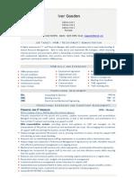 Administration Recruitment Universal (Universal CV Example)