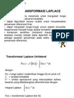 II Transformasi Laplace