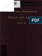 Baur, F. - A Philological Introduction to Greek and Latin for Students (1883)