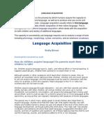 Language Acquisition.seminary i