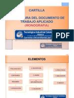 Propuesta Estructura Presentacion Documento Trabajo Aplicado 040313