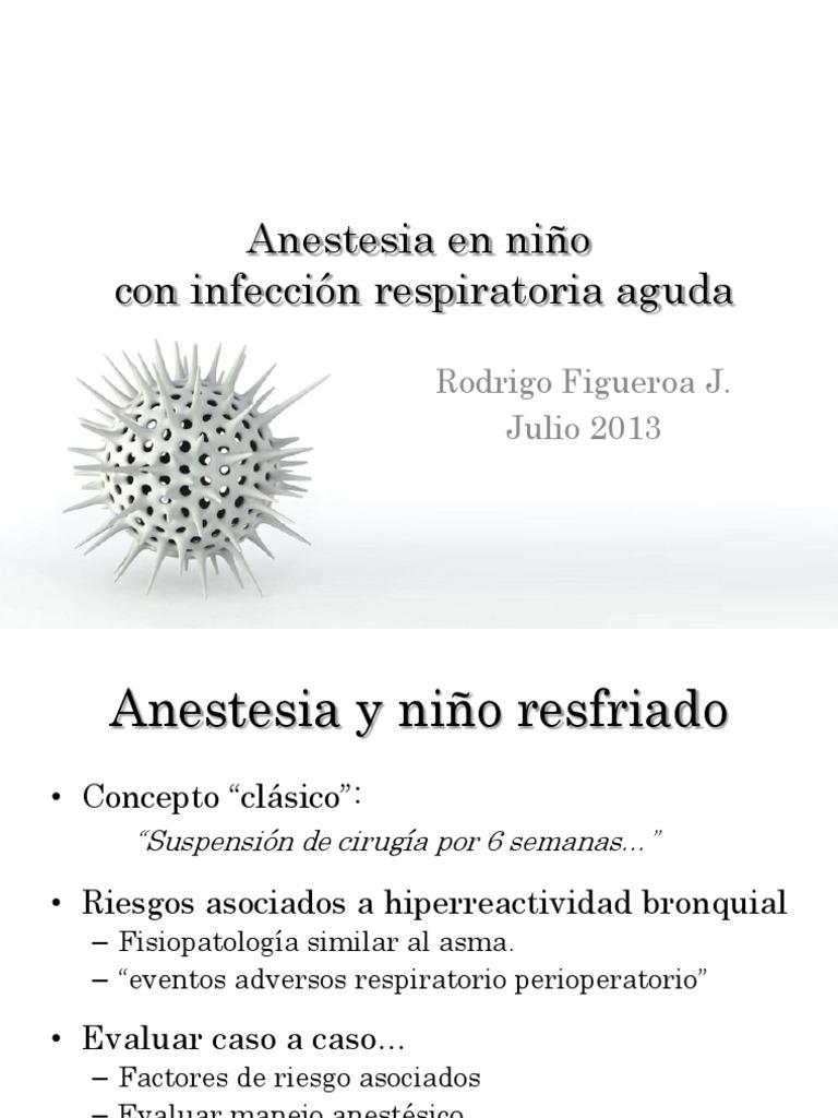 anestesia en nio resfriado