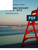 Proposed Budget FY 2013-2014