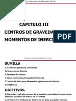 Centro de Gravedad y Momento de Inercia I