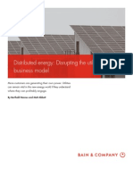 BAIN BRIEF Distributed Energy Disrupting the Utility Business Model