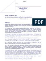 (LP2) Petition of Al Argosino to Take the Lawyers Oath