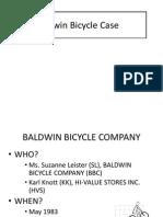 Baldwin Bicycle Analysis