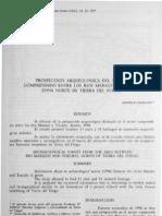 Massone 1997. Prospeccion Arqueologica Del Sector Comprendido Entre Los Rios Mazarri y Torcido