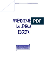 Aprendizaje de La Lengua Escrita.