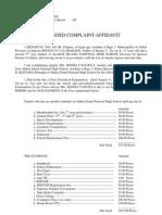 Amended Complaint Affidavit 2