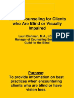Career Counseling for People With Vision Loss