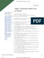 CityBus - Hyderabad APSRTC City Bus Routes - Indiabus
