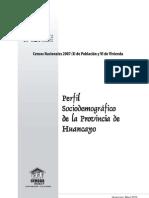 Junin 2010 Perfil Sociodemografico Provincia Huancayo