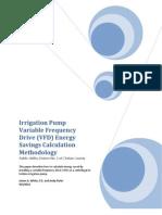 Pump VFD Energy Savings Calculations Methodology