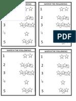 Kindergarten Maths worksheets 3- Match the following