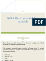 DURR Environmental Case Analysis