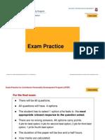 02 ExamCoaching STUDENT PRESENTATION [Compatibility Mode]