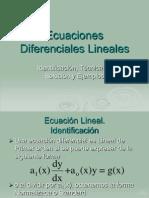 1 Ecuaciones Diferenciales Lineales