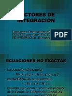 3 Factores de Integración de Exactas