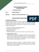 Especificaciones Tecnicas Estructuras Chongoyape