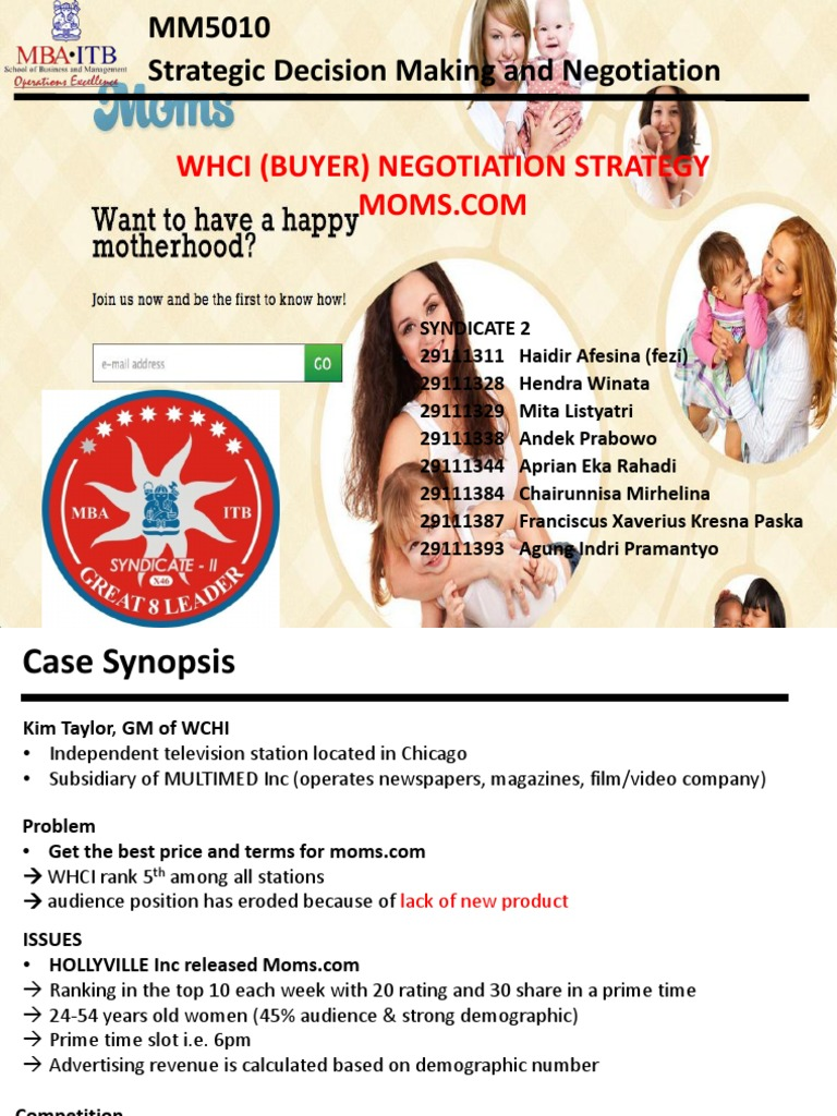 negotiation plan moms com Plan the process their agreement viability 3 create options 5 it is important to calculate both parties batna prior to beginning the negotiation and as.