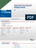 Opportunity in the Indian MV Switchgear Market_Feedback OTS_2013