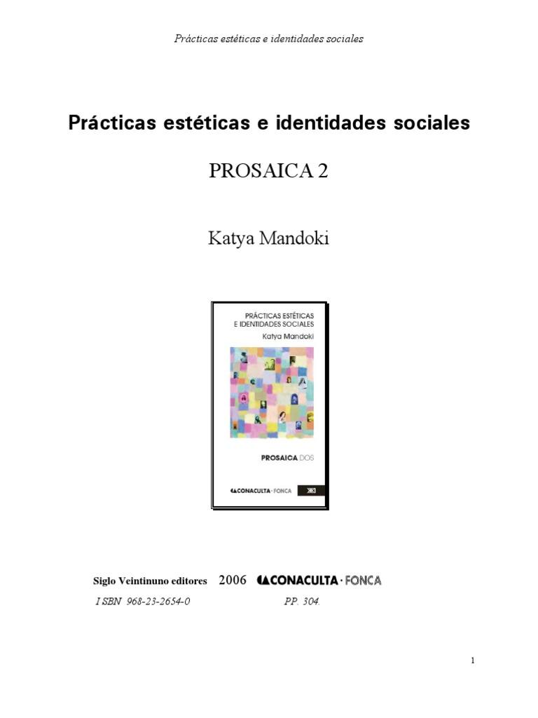 Practicas Esteticas e Identidades Sociales 5605b15759e
