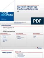 Opportunity in the Oil Type Transformers Market in India_Feedback OTS_2012
