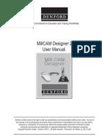 Denford MillCAM Designer 2 User Manual.