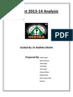 Budget 2013 Analysis