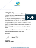 Letter to Clubs From GA Chairman - Anchor Change (5!4!2013)