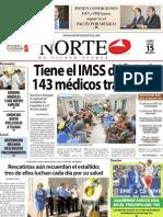 Periódico Norte de Ciudad Juárez edición impresa 15 de julio de 2013