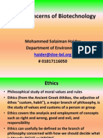 Biotechnology Ethical Concerns