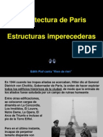 ARQUITECTURA DE PARÍS (ESTRUCTURAS IMPERECEDERAS)