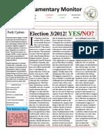 Parliamentary Monitor- 5 September 2011