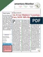 Parliamentary Monitor- 26 September 2011