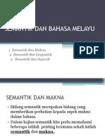 Semantik Dan Bahasa Melayu