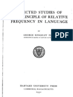 Zipf 1932 Selected Studies of the Principle of Relative Frequency in Language