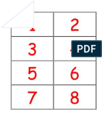 Number Cards Counters