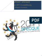 Rapport SPECQUE Luxembourg