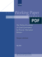 The Political Economy of Good Governance for Poverty Alleviation Policies