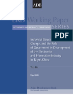 Industrial Structure, Technical Change, and the Role of Government in Development of the Electronics and Information Industry in Taipei,China